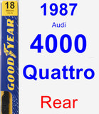 Rear Wiper Blade for 1987 Audi 4000 Quattro - Premium