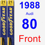 Front Wiper Blade Pack for 1988 Audi 80 - Premium