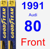Front Wiper Blade Pack for 1991 Audi 80 - Premium