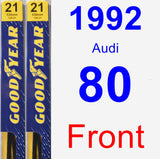 Front Wiper Blade Pack for 1992 Audi 80 - Premium