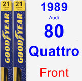 Front Wiper Blade Pack for 1989 Audi 80 Quattro - Premium