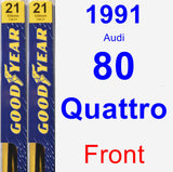 Front Wiper Blade Pack for 1991 Audi 80 Quattro - Premium