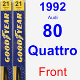 Front Wiper Blade Pack for 1992 Audi 80 Quattro - Premium