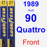 Front Wiper Blade Pack for 1989 Audi 90 Quattro - Premium