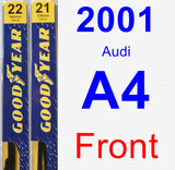 Front Wiper Blade Pack for 2001 Audi A4 - Premium