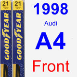 Front Wiper Blade Pack for 1998 Audi A4 - Premium
