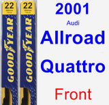 Front Wiper Blade Pack for 2001 Audi Allroad Quattro - Premium