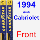 Front Wiper Blade Pack for 1994 Audi Cabriolet - Premium