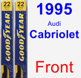 Front Wiper Blade Pack for 1995 Audi Cabriolet - Premium