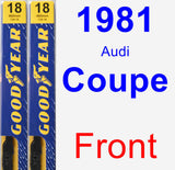 Front Wiper Blade Pack for 1981 Audi Coupe - Premium