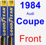 Front Wiper Blade Pack for 1984 Audi Coupe - Premium