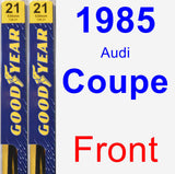 Front Wiper Blade Pack for 1985 Audi Coupe - Premium