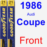 Front Wiper Blade Pack for 1986 Audi Coupe - Premium