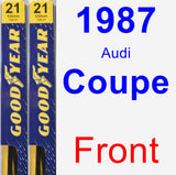 Front Wiper Blade Pack for 1987 Audi Coupe - Premium