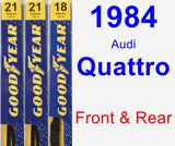 Front & Rear Wiper Blade Pack for 1984 Audi Quattro - Premium