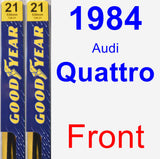 Front Wiper Blade Pack for 1984 Audi Quattro - Premium