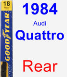 Rear Wiper Blade for 1984 Audi Quattro - Premium