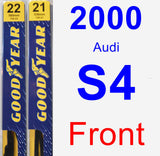 Front Wiper Blade Pack for 2000 Audi S4 - Premium