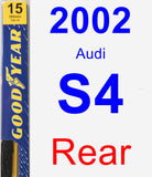 Rear Wiper Blade for 2002 Audi S4 - Premium