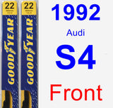 Front Wiper Blade Pack for 1992 Audi S4 - Premium