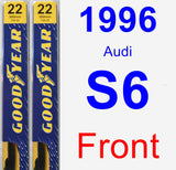 Front Wiper Blade Pack for 1996 Audi S6 - Premium