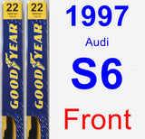 Front Wiper Blade Pack for 1997 Audi S6 - Premium