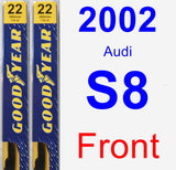 Front Wiper Blade Pack for 2002 Audi S8 - Premium
