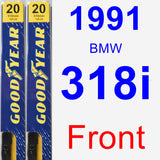 Front Wiper Blade Pack for 1991 BMW 318i - Premium