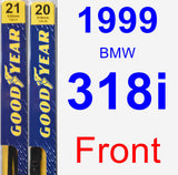 Front Wiper Blade Pack for 1999 BMW 318i - Premium