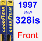 Front Wiper Blade Pack for 1997 BMW 328is - Premium