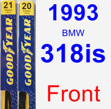 Front Wiper Blade Pack for 1993 BMW 318is - Premium