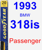 Passenger Wiper Blade for 1993 BMW 318is - Premium