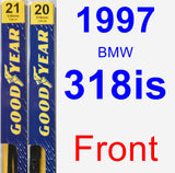 Front Wiper Blade Pack for 1997 BMW 318is - Premium