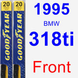 Front Wiper Blade Pack for 1995 BMW 318ti - Premium