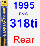 Rear Wiper Blade for 1995 BMW 318ti - Premium