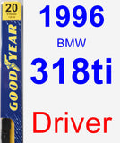 Driver Wiper Blade for 1996 BMW 318ti - Premium