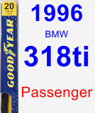 Passenger Wiper Blade for 1996 BMW 318ti - Premium