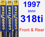 Front & Rear Wiper Blade Pack for 1997 BMW 318ti - Premium
