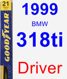 Driver Wiper Blade for 1999 BMW 318ti - Premium
