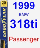Passenger Wiper Blade for 1999 BMW 318ti - Premium