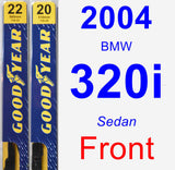 Front Wiper Blade Pack for 2004 BMW 320i - Premium