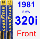 Front Wiper Blade Pack for 1981 BMW 320i - Premium