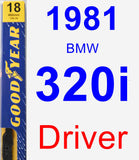 Driver Wiper Blade for 1981 BMW 320i - Premium