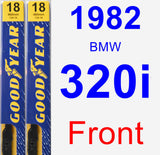 Front Wiper Blade Pack for 1982 BMW 320i - Premium