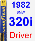 Driver Wiper Blade for 1982 BMW 320i - Premium