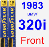 Front Wiper Blade Pack for 1983 BMW 320i - Premium