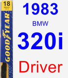 Driver Wiper Blade for 1983 BMW 320i - Premium