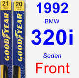 Front Wiper Blade Pack for 1992 BMW 320i - Premium
