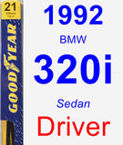 Driver Wiper Blade for 1992 BMW 320i - Premium