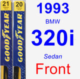 Front Wiper Blade Pack for 1993 BMW 320i - Premium